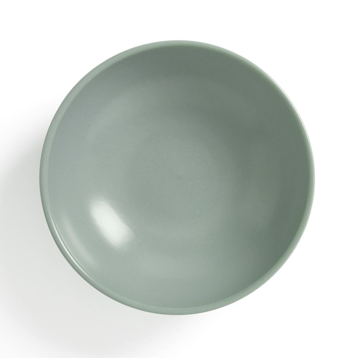 Комплект из глубоких тарелок La Redoute Из матового фаянса MELYA единый размер зеленый