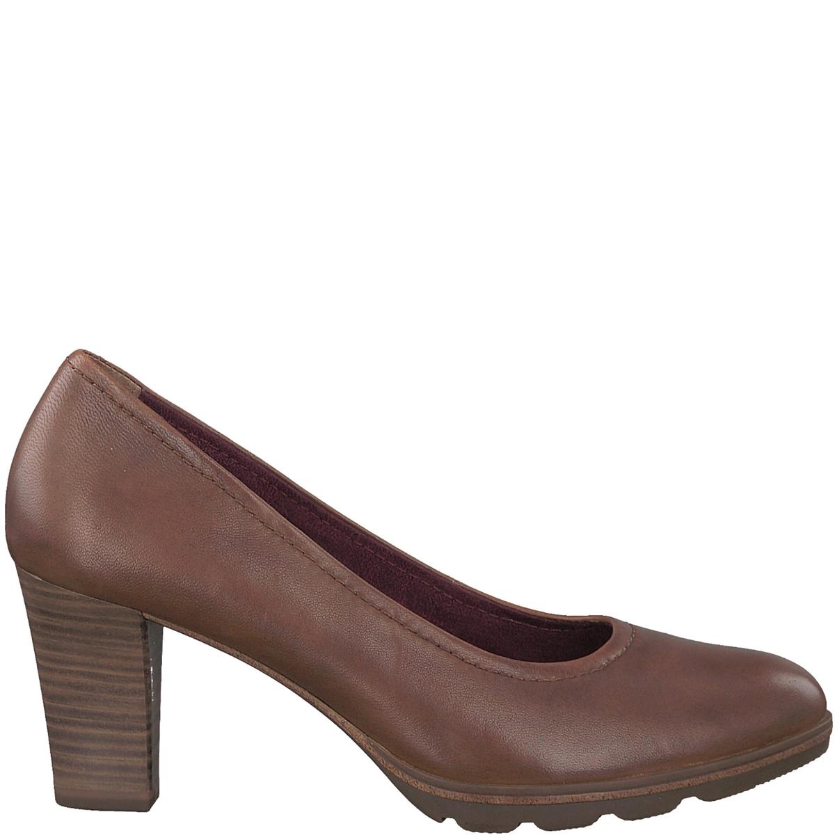 Туфли кожаные FeeДетали •  Широкий каблук •  Высота каблука : 7,5 см •  Застежка : без застежки •  Круглый мысокСостав и уход • Верх 100% овечья кожа •  Подкладка 50% синтетического материала, 50% текстиля •  Стелька 100% кожа<br><br>Цвет: коньячный<br>Размер: 36