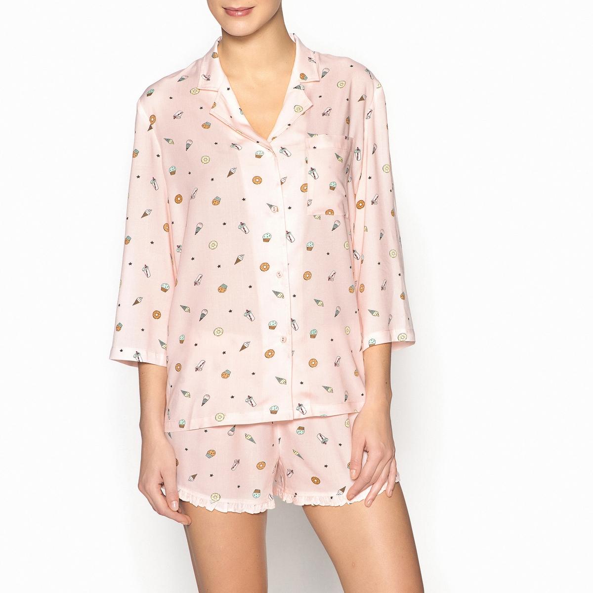 Пижама в шортами оригинальная пижама с шортами с рисунком