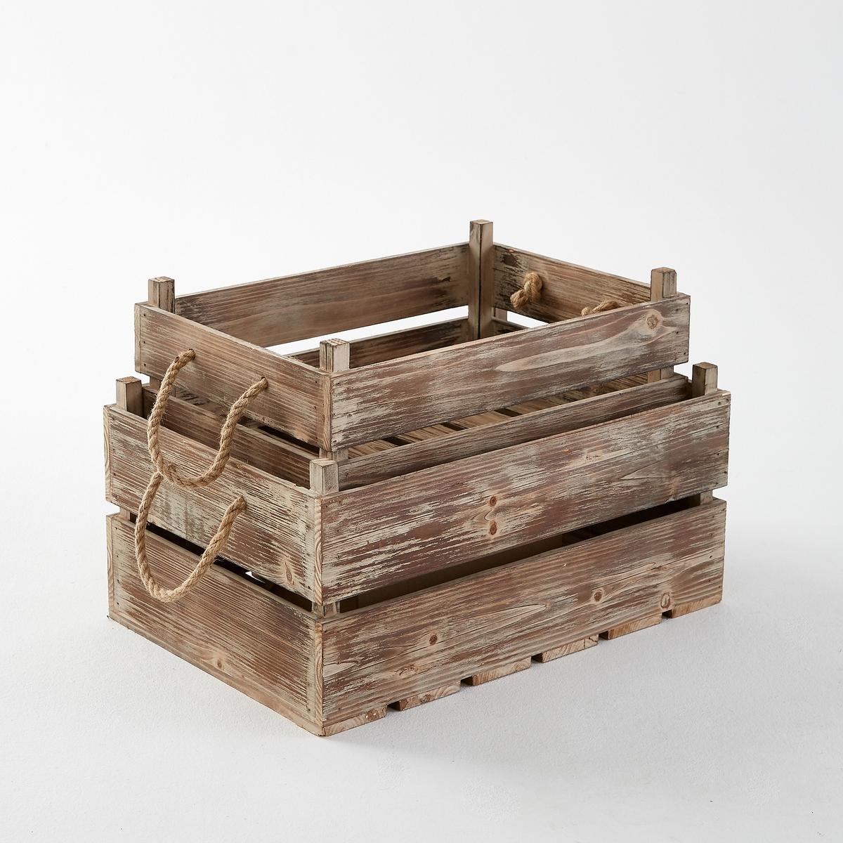 2 декоративных ящика, Perrine2 ящика Perrine. 2 декоративных ящика разного размера, сочетающие шарм провинции с современным декором, для размещения декоративных предметов, книг...Характеристики ящиков Perrine :Ель и брус из ели 10 мм.Выбеленная отделка.2 ручки из плетеной веревки.Размеры ящиков Perrine:Маленькая модель : 52,1 x 25,5 x 35,8 см+Большая модель: 45 x 19 x 31,2 смНайдите предметы для декора и хранения вещей на сайте laredoute.ruРазмеры и вес упаковки :1 упаковка61 x 42 x 33 см5,1 кгДоставка ящиков Perrine в собранном виде.<br><br>Цвет: серо-бежевый