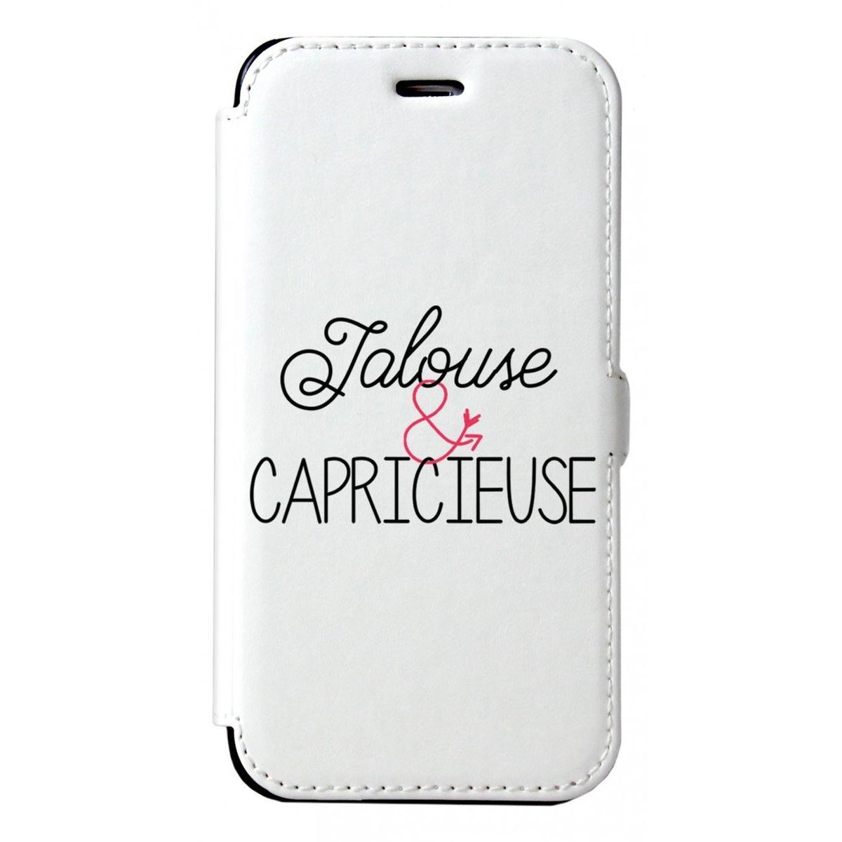 Etui iPhone 6 iPhone 6S rigide blanc, Jalouse et Capricieuse, La Coque Francaise®