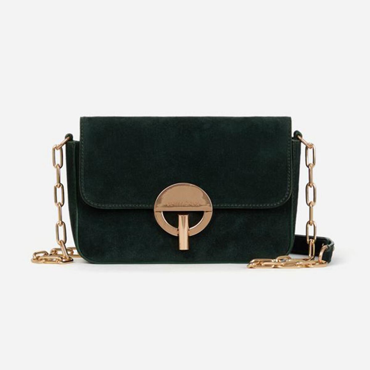 Сумка LaRedoute С ремешком и замши MOON единый размер зеленый сумка шоппер laredoute из джута с надписью gypsy единый размер бежевый