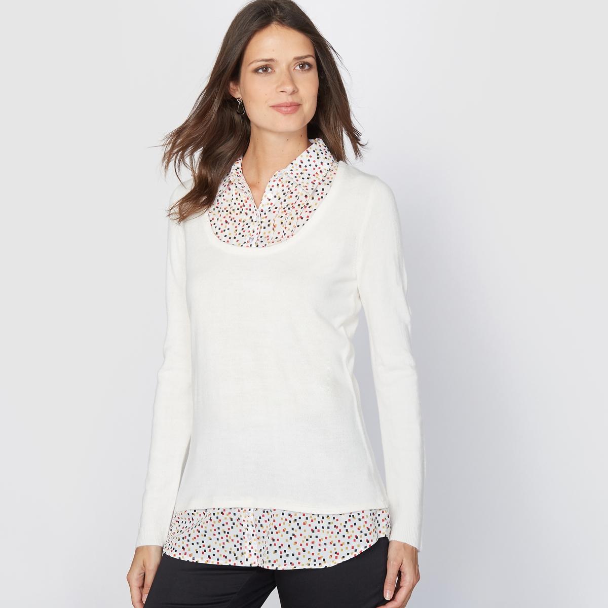 Пуловер 2 в 1, прикосновение кашемира
