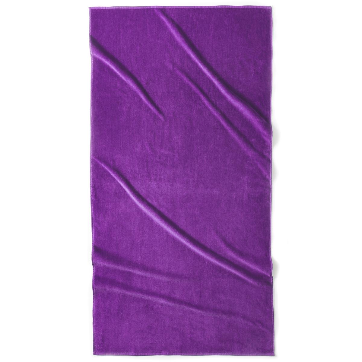 Полотенце пляжное ESTORILПляжное полотенце из 100% хлопка, 420 г/м?. 1 сторона из велюра, 1 сторона из махровой ткани. Размер полотенца: 90 x 175 см. Стирка при 40°.<br><br>Цвет: фиолетовый