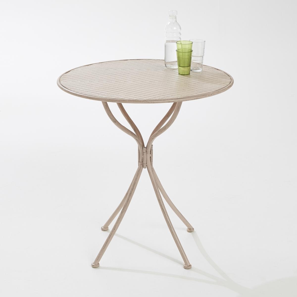 Стол садовый металлический круглой формы