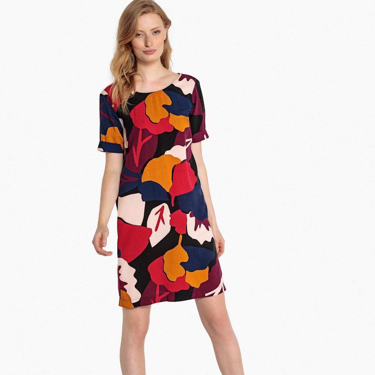 все цены на Платье прямое с цветочным рисунком и застежкой на пуговицы сзади онлайн