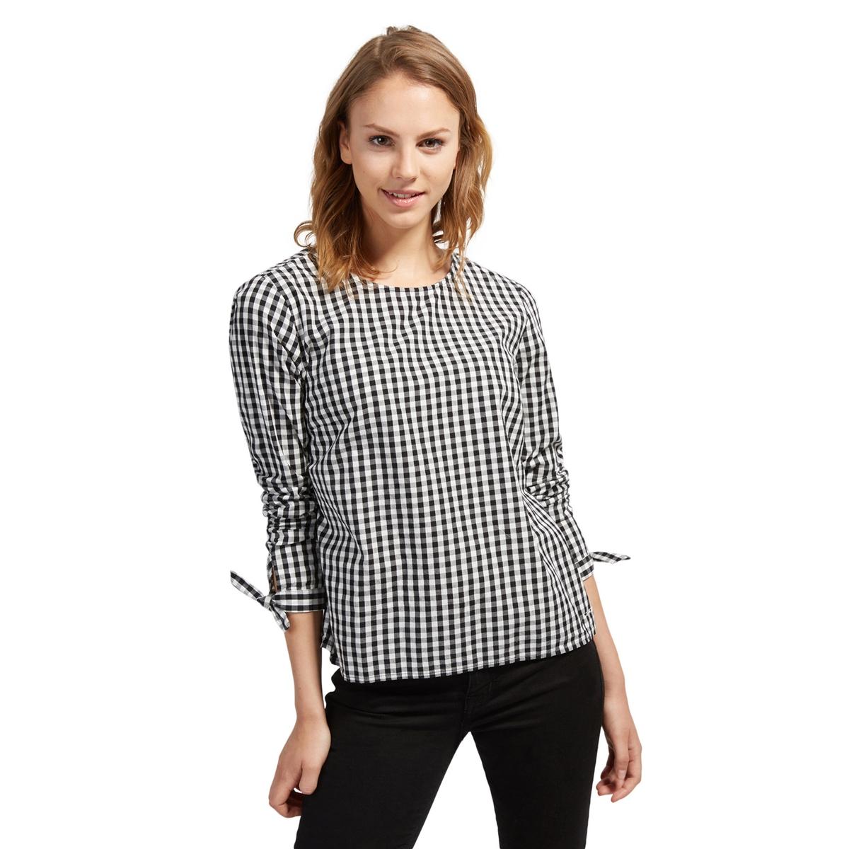 Блузка с круглым вырезом, рисунком в полоску и длинными рукавами tom tailor блузка tom tailor 203140400752647