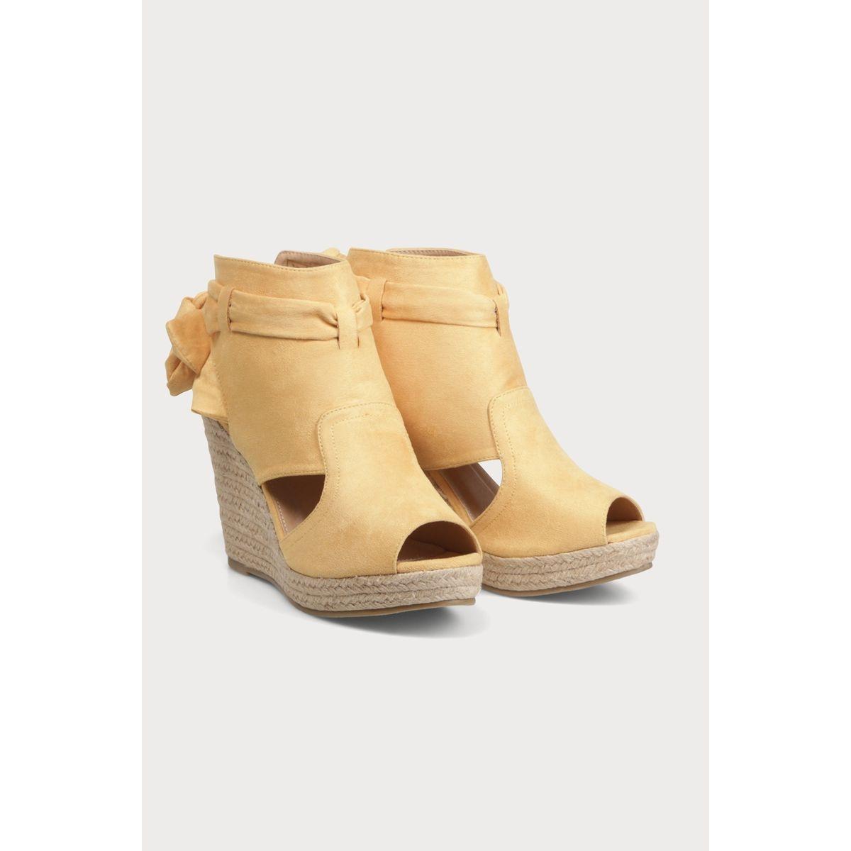 Sandales compensées avec noeud