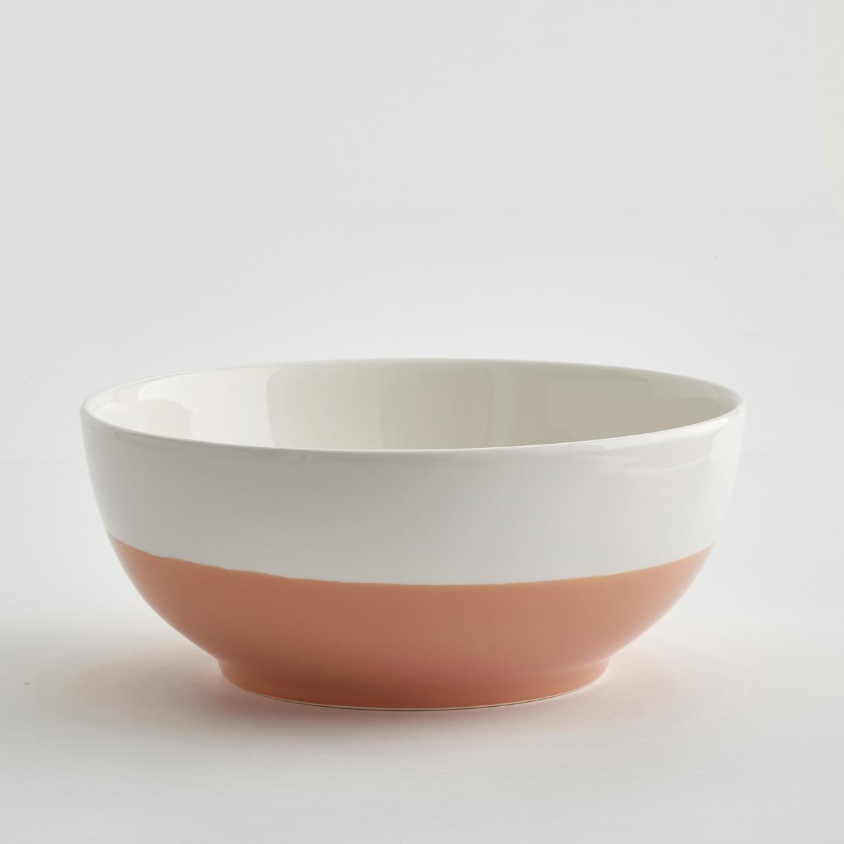 Салатница двухцветная из керамики, ZalatoМинималистический дизайн, большой объем, в аутентичном стиле : салатница Zalato привлекает своей функциональностью и объемом и сочетается с внутренним декором.Характеристики двухцветной салатницы из керамики Zalato :Из керамики.Размеры двухцветной салатницы из керамики Zalato :Высота : 11 см.Диаметр. внизу : 16 см.Диаметр. вверху : 28 см.Цвета двухцветной салатницы из керамики Zalato :Белый / синий.Белый / розовый.Белый / зеленый.  Другие салатницы и предметы декора стола вы можете найти на сайте laredoute.ru<br><br>Цвет: белый + светло-зеленый,белый/ розовая пудра,белый/синий глубокий
