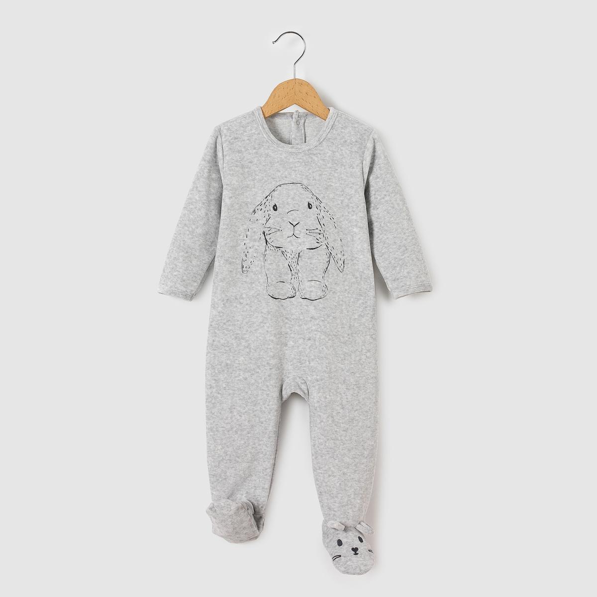Пижама из велюра, 0 месяцев - 3 года