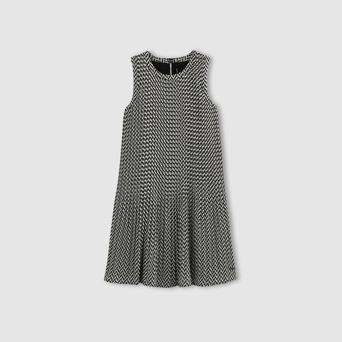 Платье средней длины LORINСостав и описаниеМатериал : 100% полиэстера.Подкладка : 100% полиэстера.Длина до середины спинки : 88 см (для размера XS)Марка : PEPE JEANS.<br><br>Цвет: черный/ белый