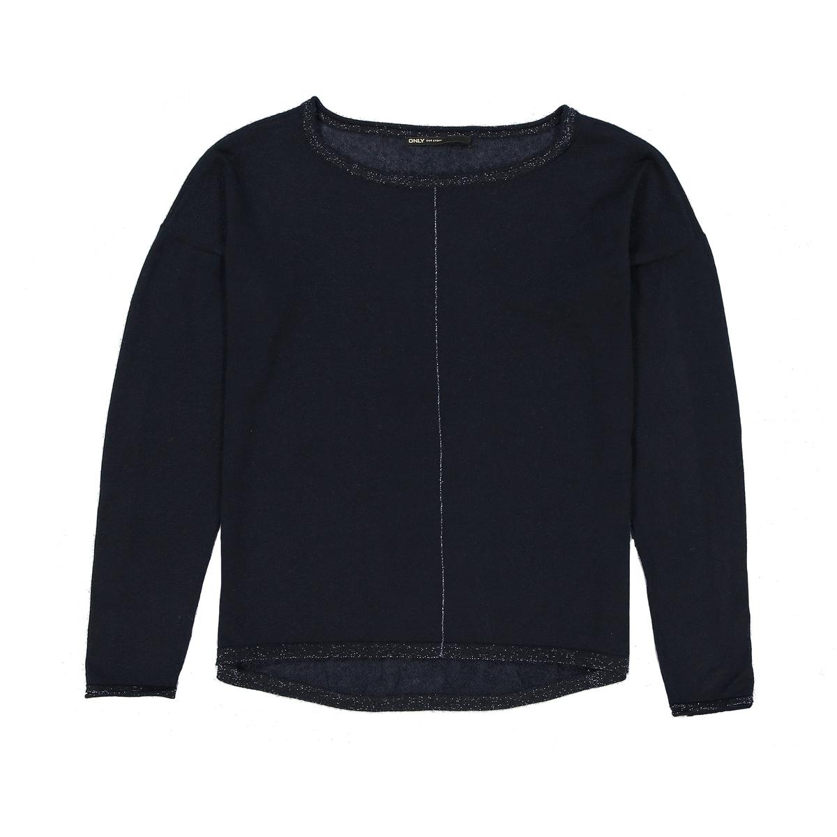 Пуловер с длинными рукавамиДетали   •  Пуловер классический •  Длинные рукава •  Круглый вырез •  Тонкий трикотажСостав и уход   •  15% льна, 85% полиэстера •  Следуйте рекомендациям по уходу, указанным на этикетке изделия<br><br>Цвет: серый меланж,синий морской,экрю<br>Размер: M