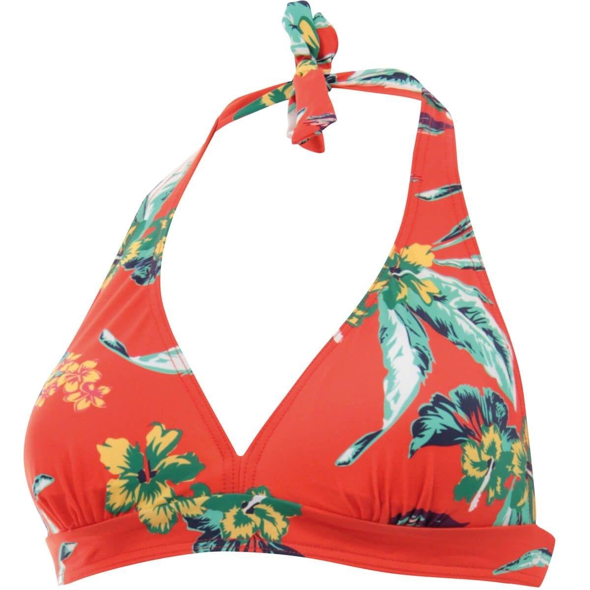 Haut de maillot de bain Triangle foulard mousse amovible Tropic