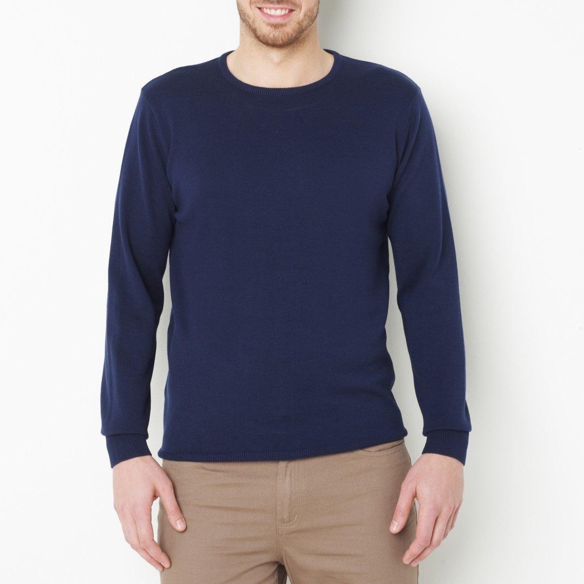 Пуловер с круглым вырезомдлина спереди : 73 см для размера 50/52 и 81 см для размера 82/84.- длина рукавов : 64,5 см.<br><br>Цвет: темно-синий,черный<br>Размер: 70/72.78/80.58/60.62/64.50/52.66/68