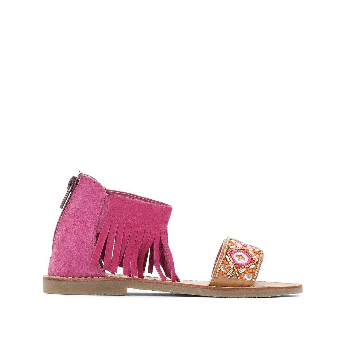 Sandales frangées à perles 26-39