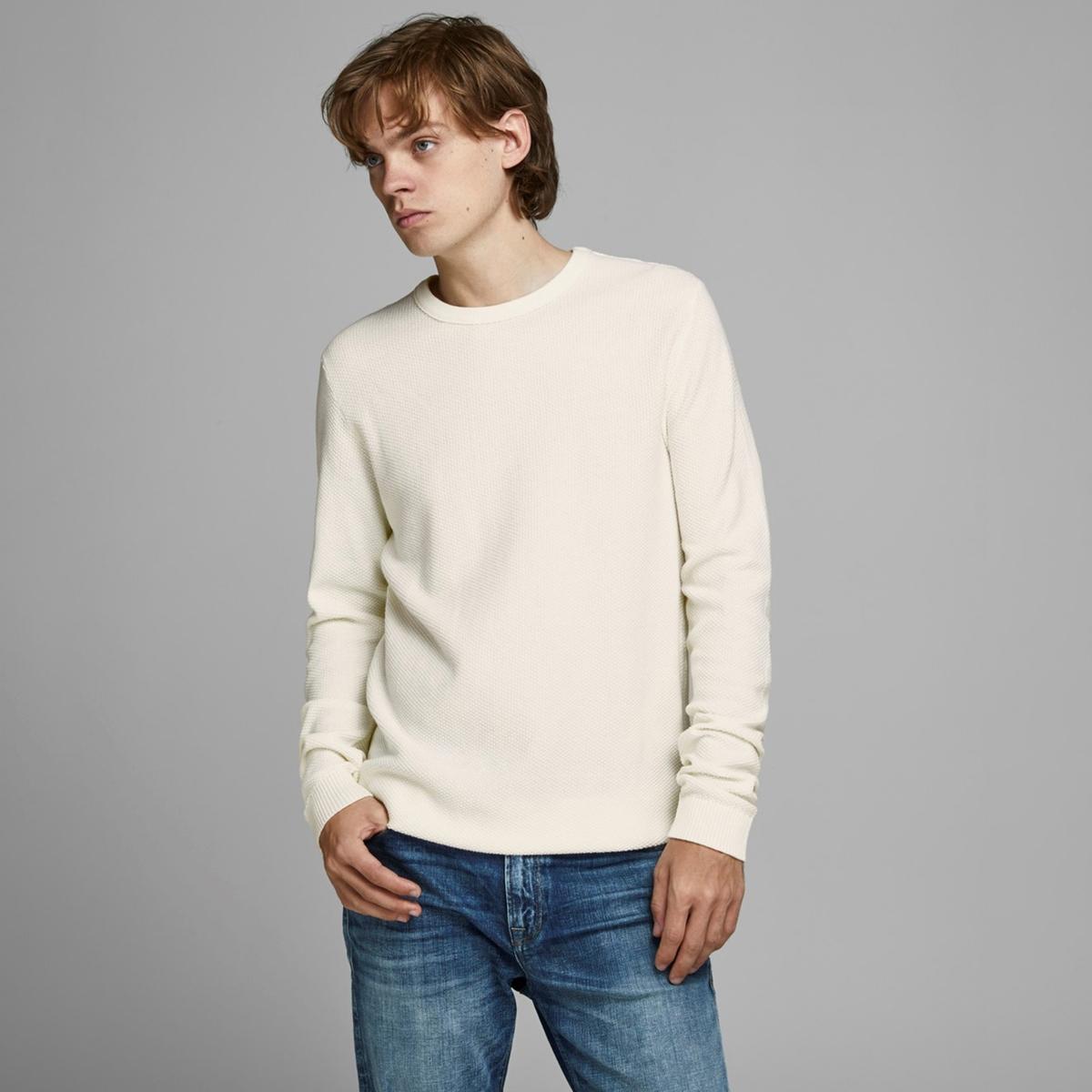 Пуловер La Redoute С круглым вырезом из тонкого трикотажа XXL бежевый пуловер la redoute с круглым вырезом из тонкого трикотажа m красный