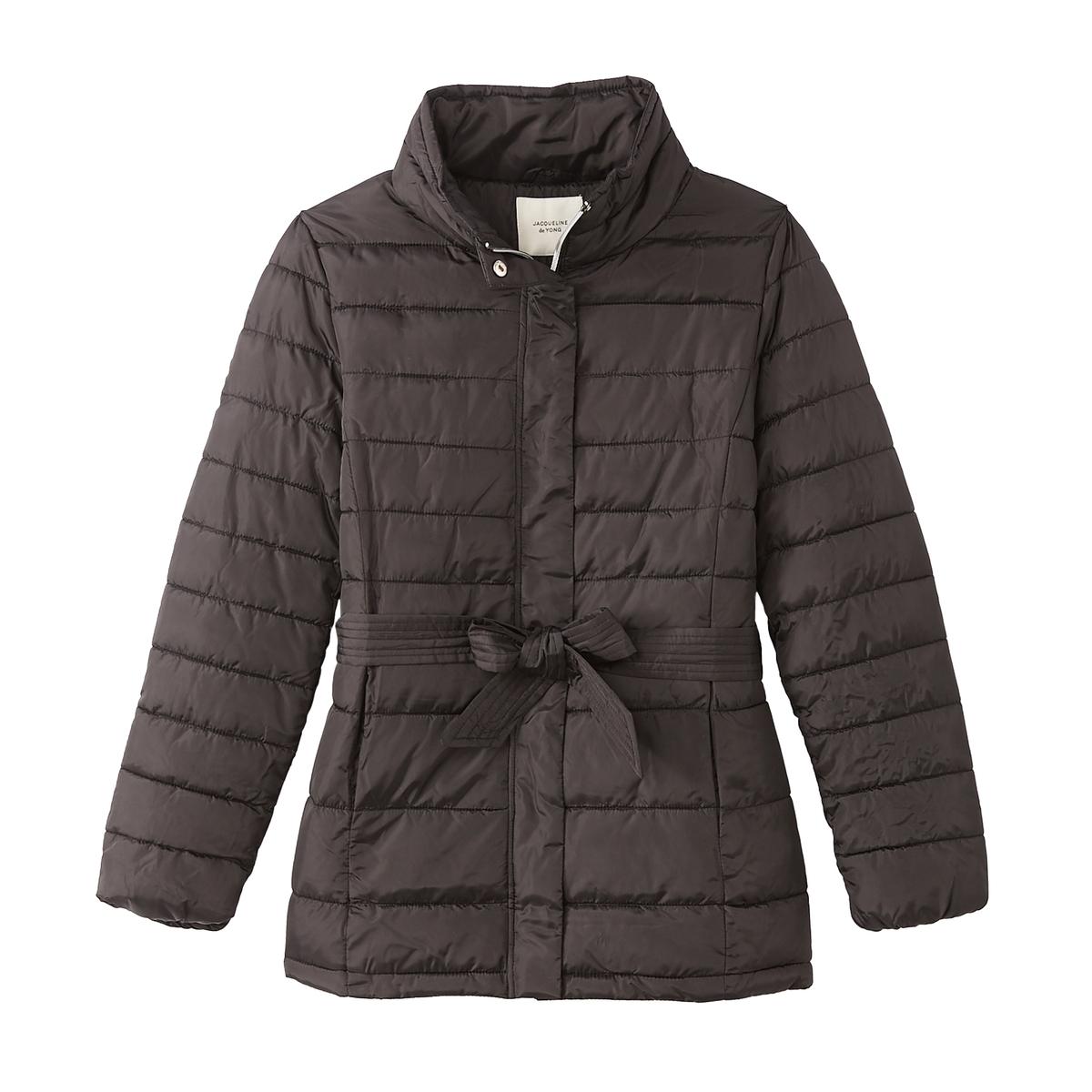 Куртка La Redoute Стеганая длинная с воротником-стойкой XS черный куртка la redoute стеганая короткая nebraska с воротником стойкой на молнии s синий