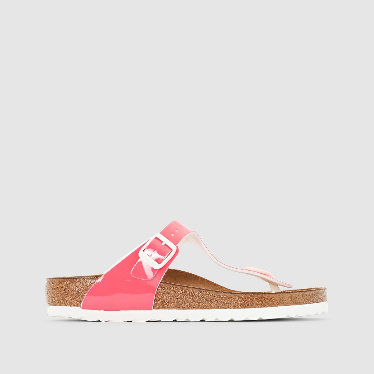 Туфли без задника лакированные с перемычкой между пальцами, GIZEH