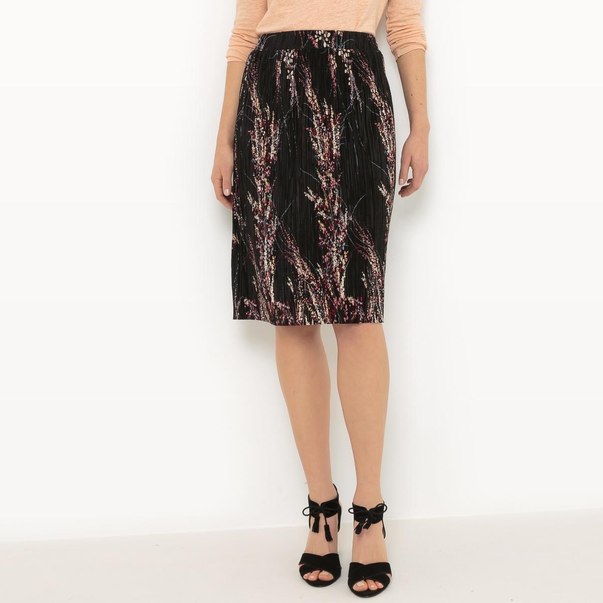 Falda plisada, largo por la rodilla