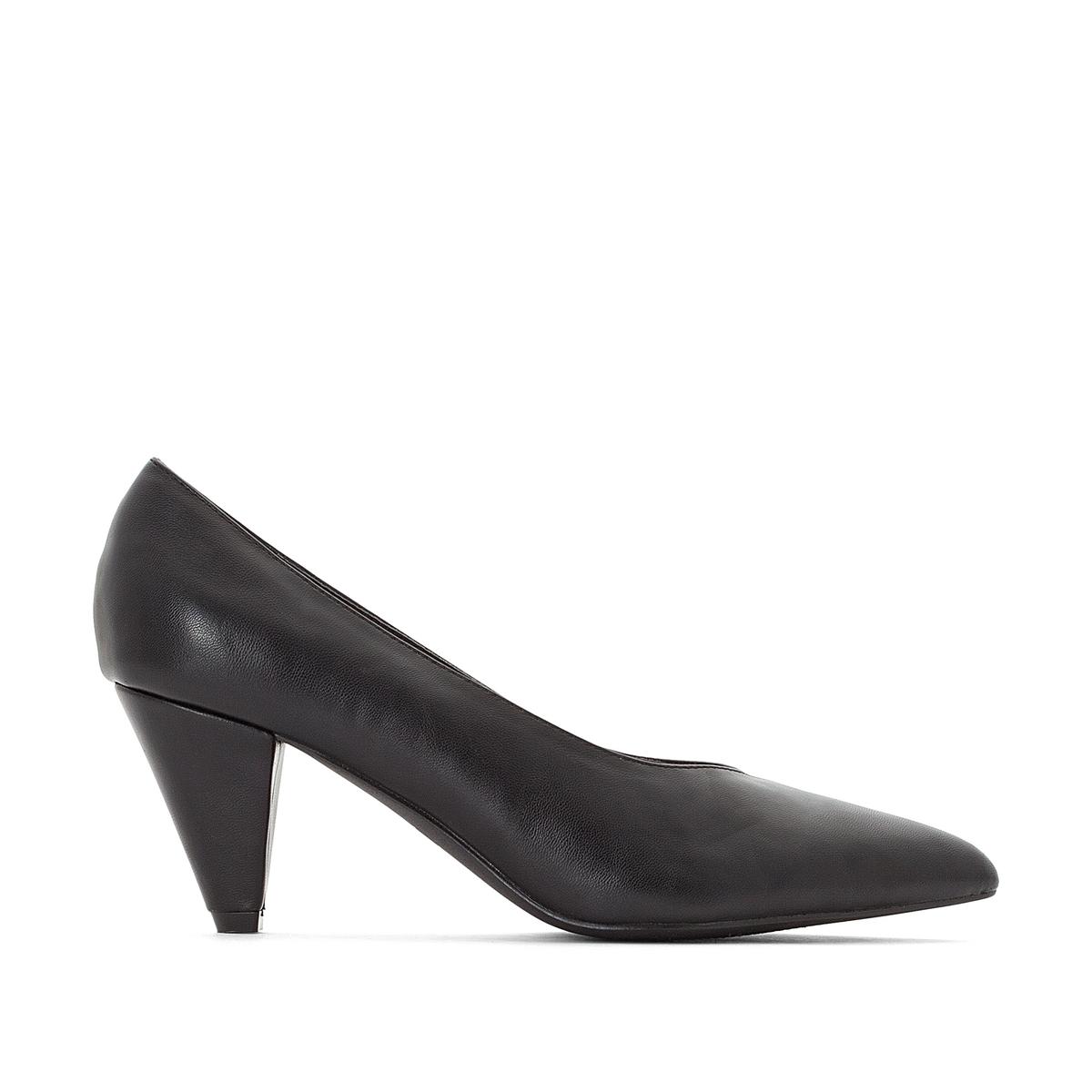 Туфли из черной кожи, на широкую ногу 38-45 браслет на ногу other 18k
