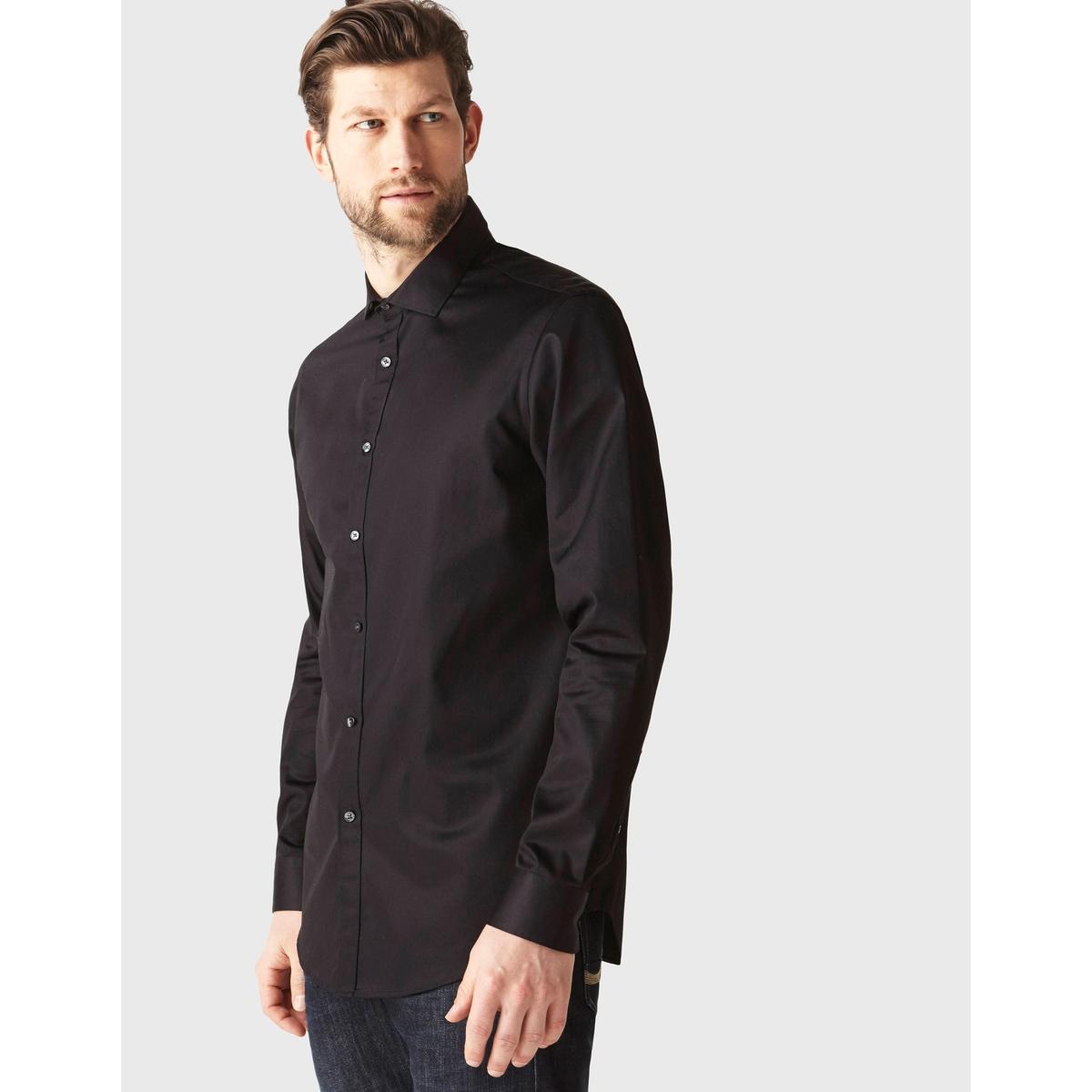 Рубашка прямого покроя SHARANI из хлопкового сатина лонгслив celio celio ce007emvgp63