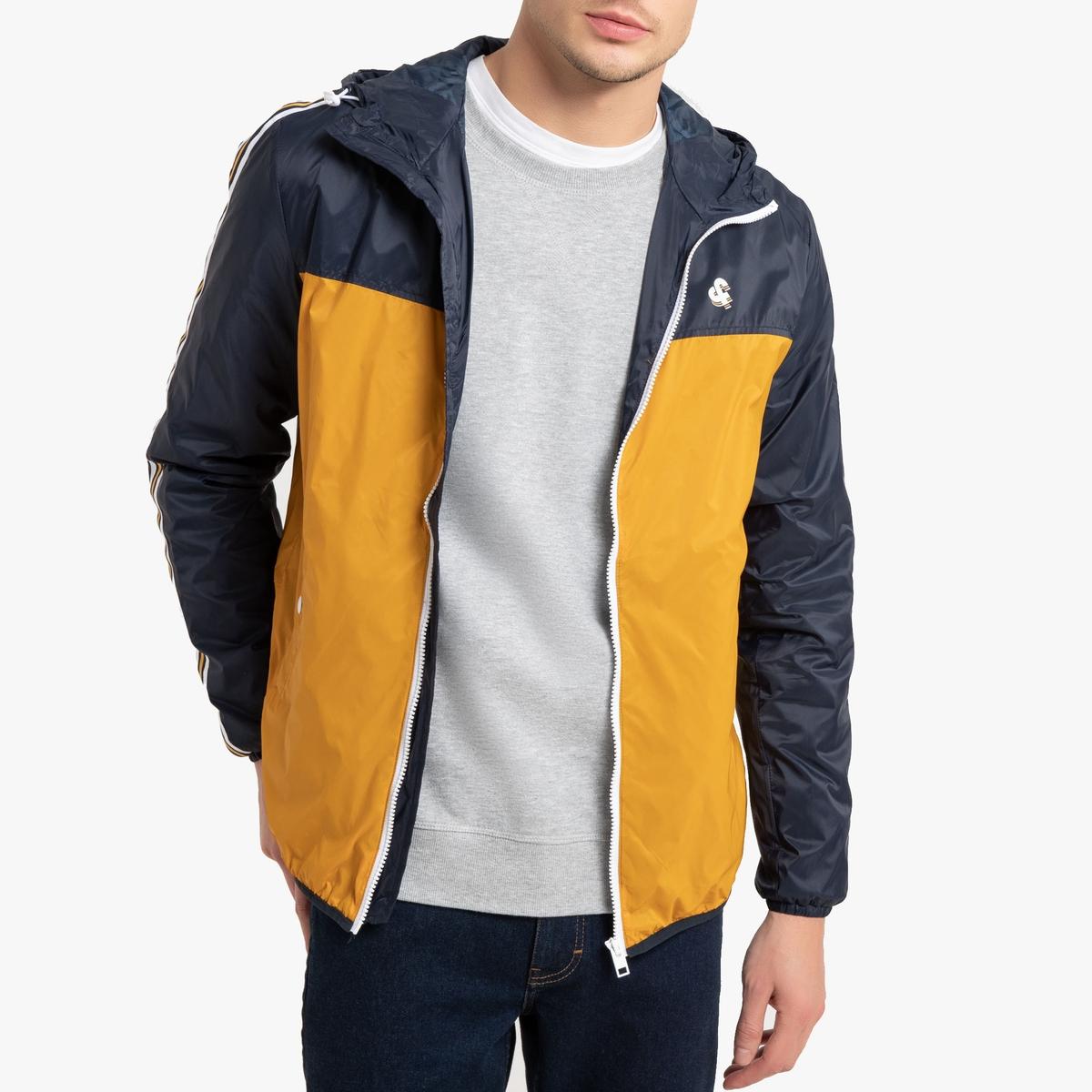 Куртка La Redoute На молнии с капюшоном Jorbilly M синий цены