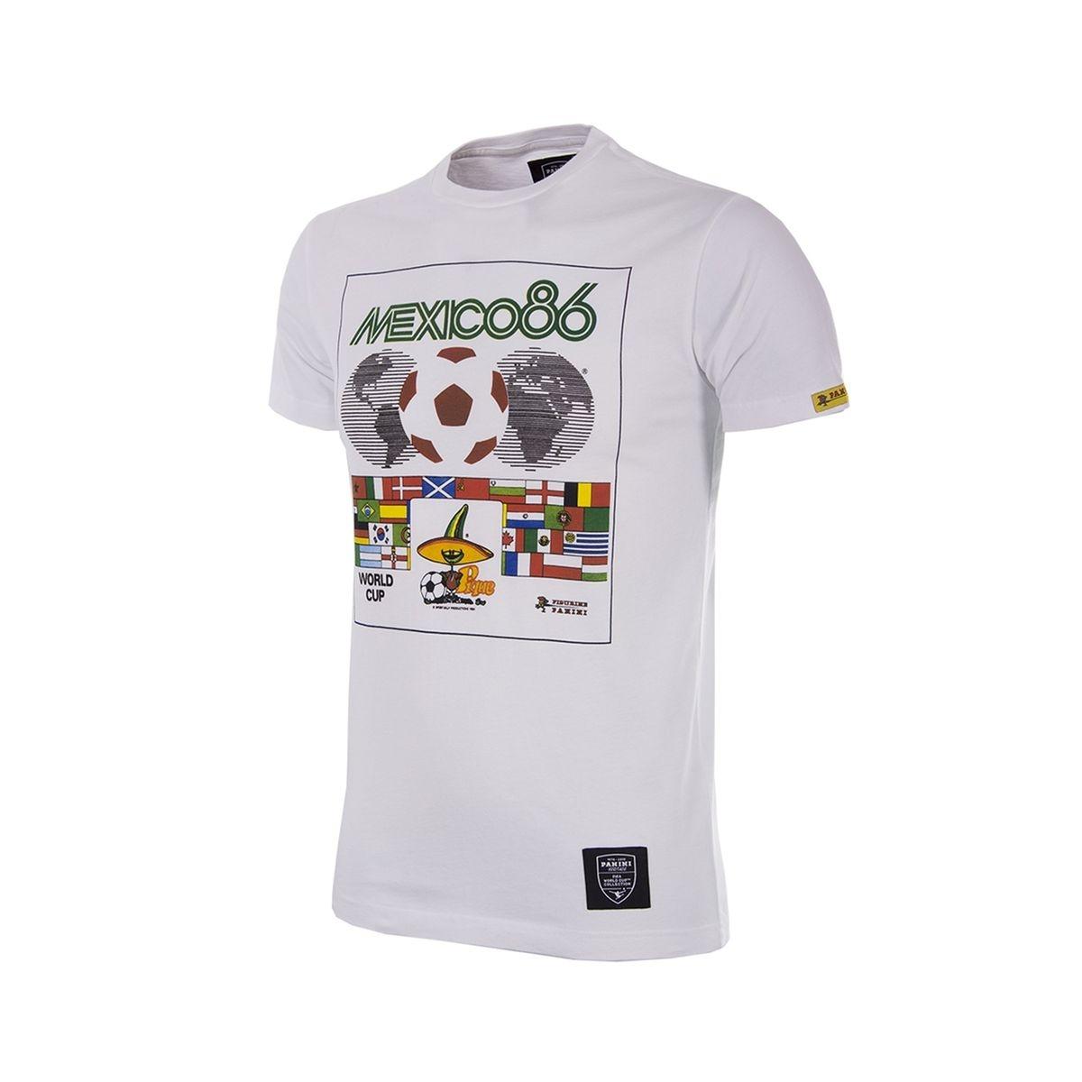 T-shirt Rétro Mexico 1986 Blanc