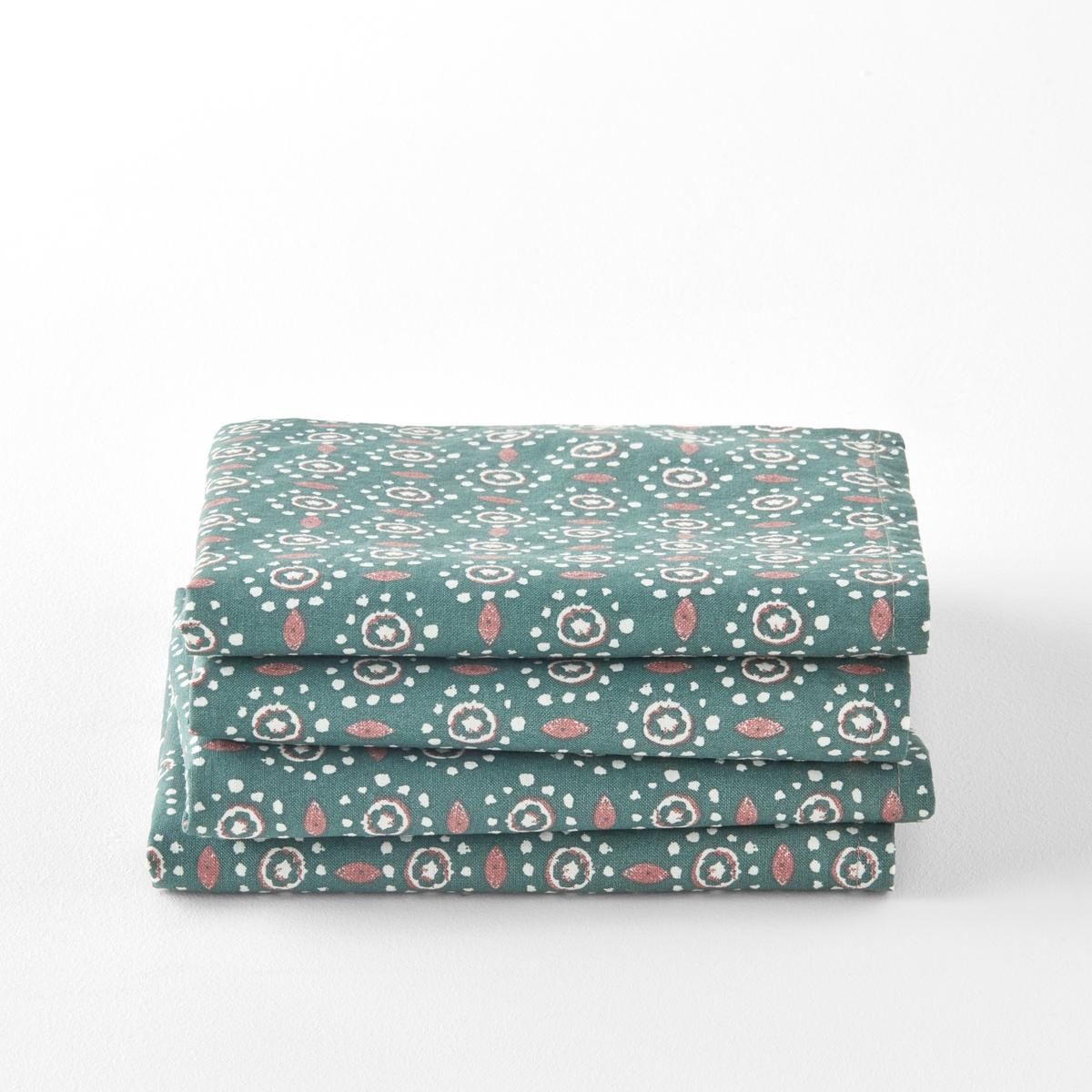 Tovaglioli cotone/lino lavato OLÉANE, confezione da 4