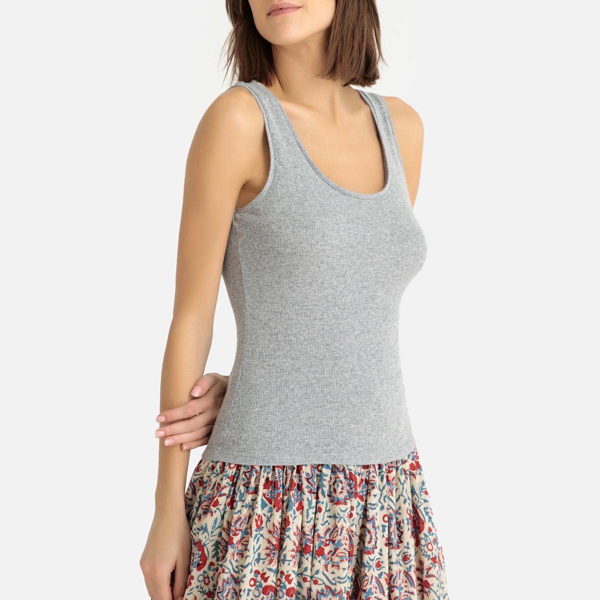 Imagen principal de producto de Camiseta sin mangas de canalé fino VITIBOO - American Vintage