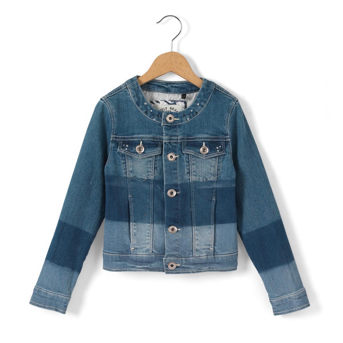 Жакет джинсовый для девочек, 3 - 14 лет 20 096 панно настенное геккон албезия о бали 20см 899012