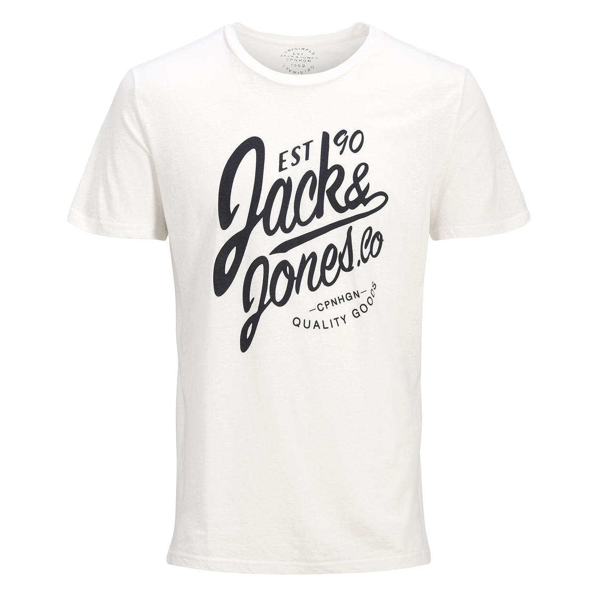 T-shirt met ronde hals en korte mouwen, print vooraan