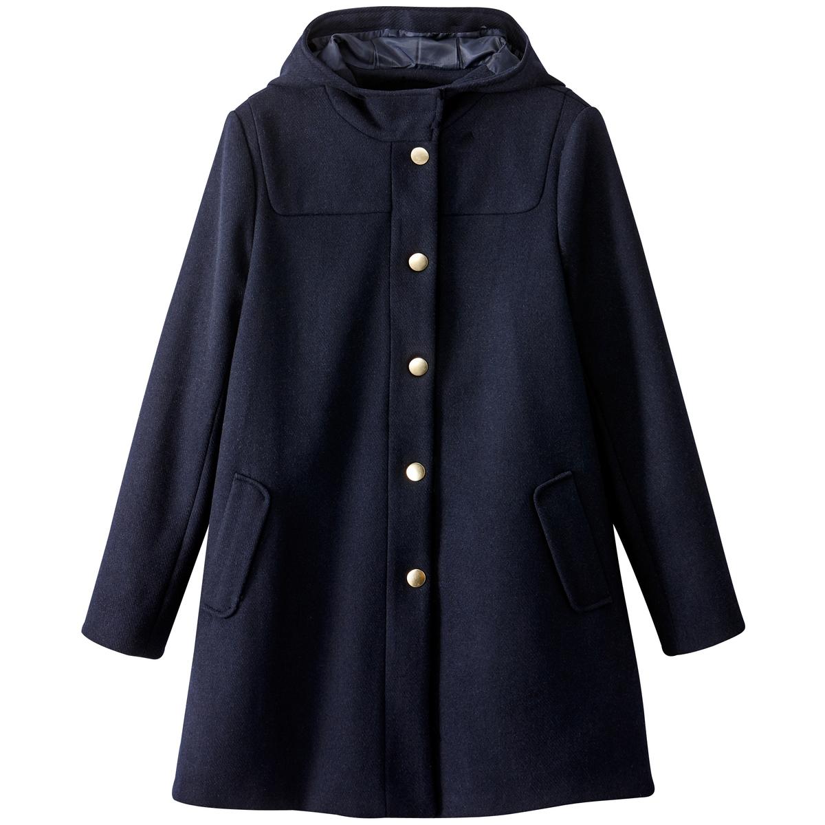 Пальто с капюшоном из шерстяного драпа кофе tchibo кофе в капсулах espresso elegant