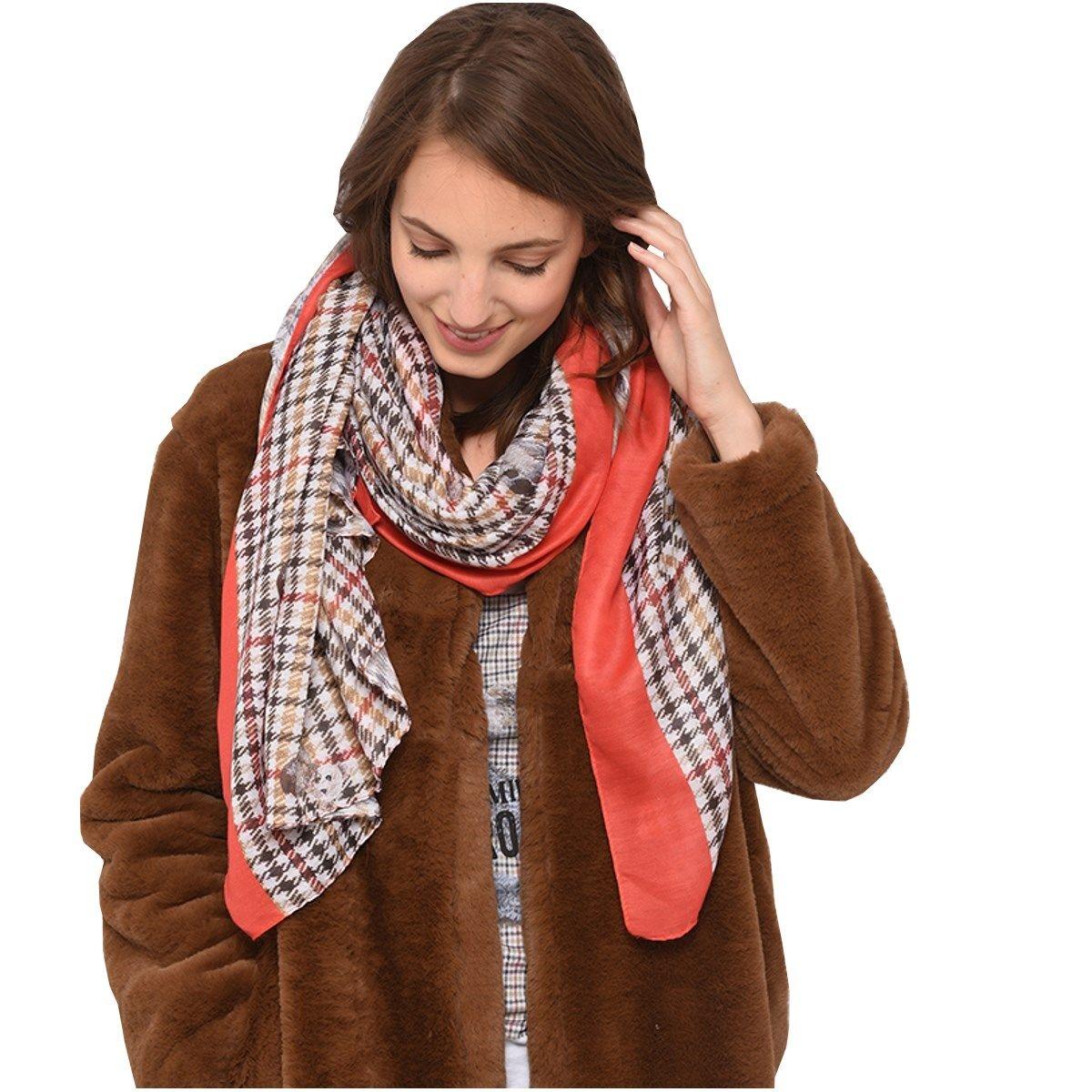Grand foulard imprimé OURS
