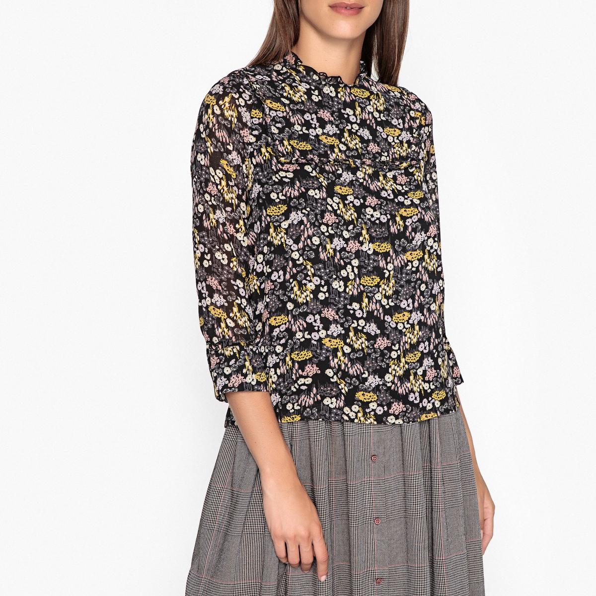 Блузка из муслина с принтом ASHLEY удлиненная блузка quelle ashley brooke by heine 35260