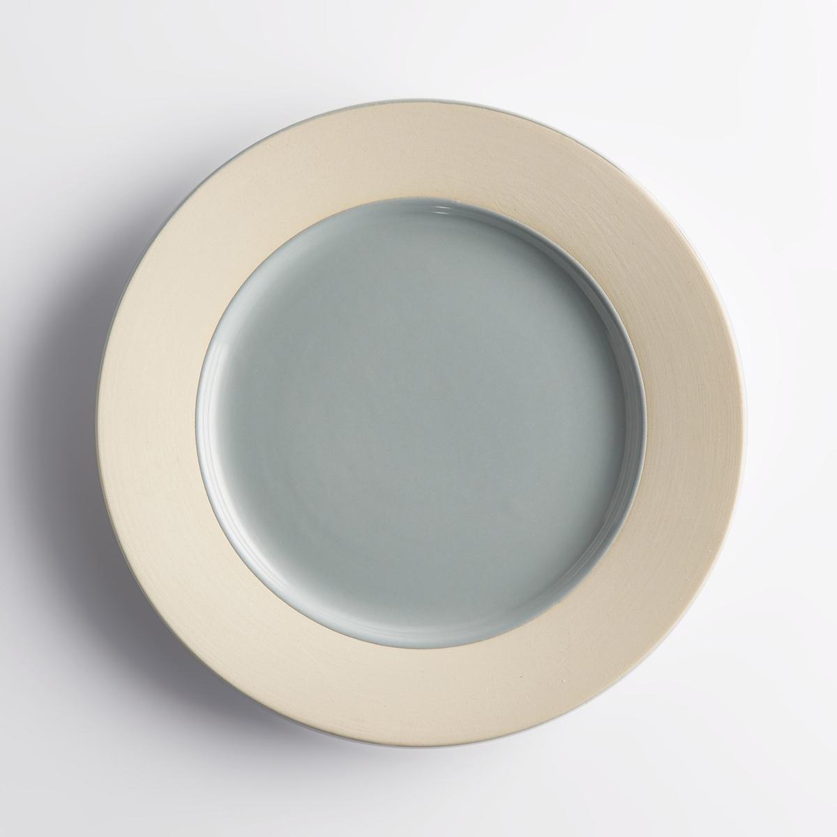 Комплект из 4 мелких тарелок из керамики Warota