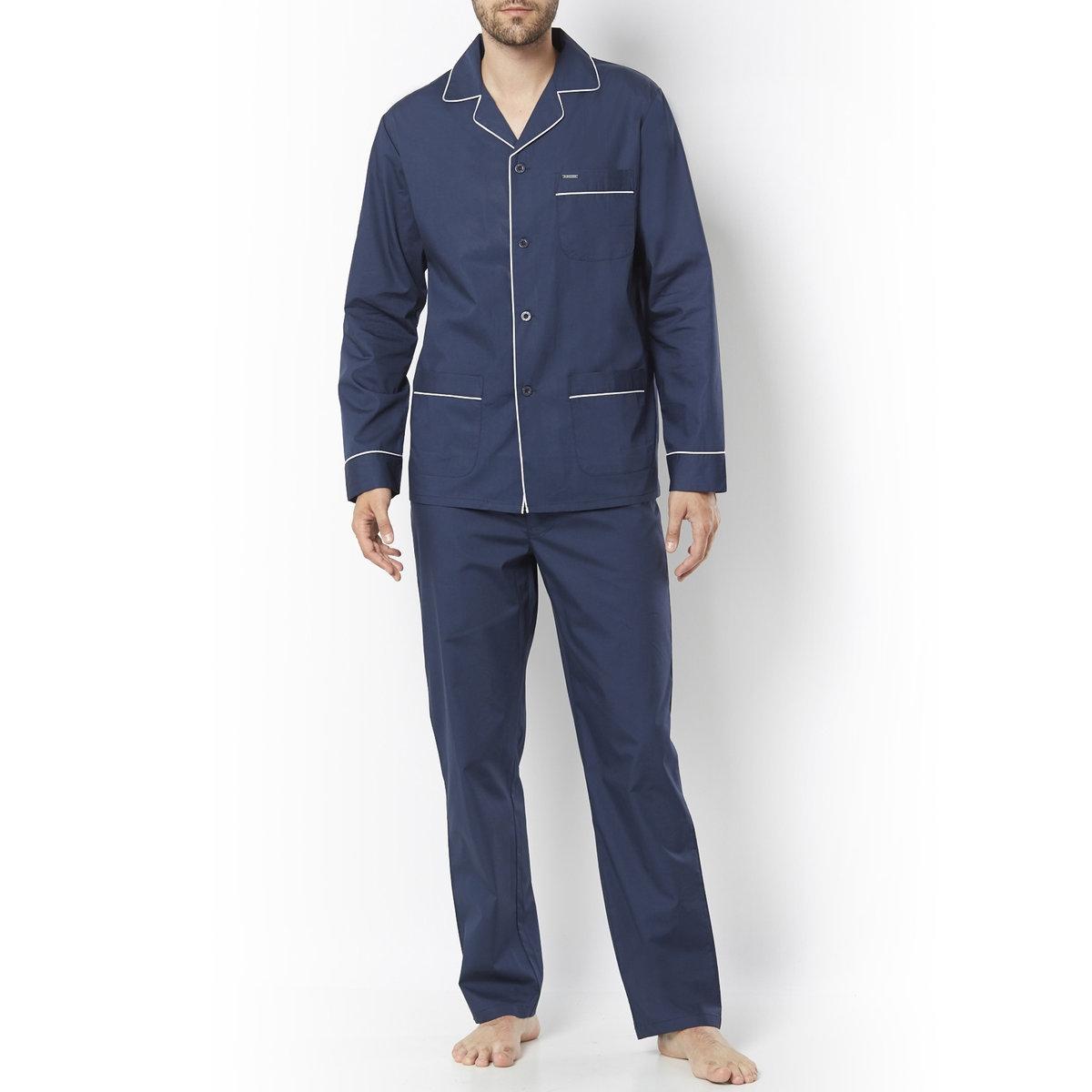 Пижама с пиджачным воротником,100% хлопка от La Redoute Collections