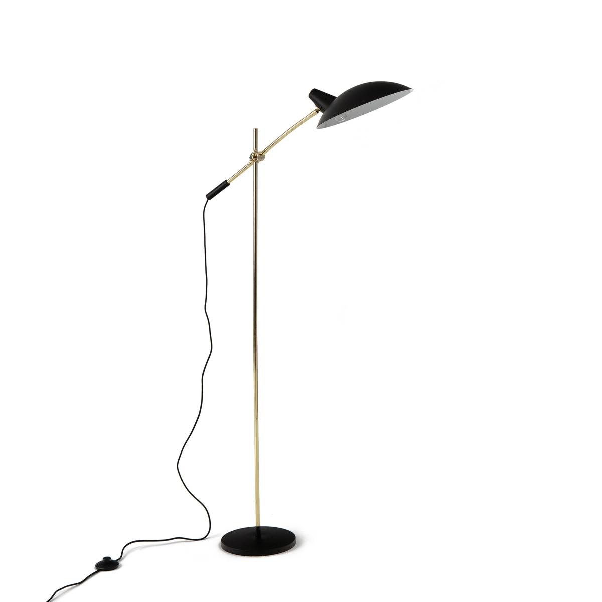 Торшер винтажный ROSELLA из металла и латуниТоршер винтажный ROSELLA из металла и латуни  . Металлический светильник с эпоксидной отделкой под латунь, элегантный и строгий дизайн в винтажном стиле . Будет идеально смотреться около кресла или дивана .Описание торшера Rosella :Патрон E14 для флюокомпактной лампочки макс. 8 Вт( не входит в комплект). Этот светильник совместим с лампочками энергетического класса A  .Характеристики торшера Rosella :- Каркас из металла с эпоксидным покрытием под латунь .-Регулируется по высоте и по направлению .Найдите другие модели из коллекции Rosella на сайте laredoute.ruРазмеры торшера Rosella :- Высота 135 см x L72 см x P30 см. - Абажур ?30 x H7,2 см .- Основание : ?23 x H2,5 см. Размеры и вес ящика :36 x 16 x 67 смВес 5,4 кг<br><br>Цвет: черный/латунь<br>Размер: единый размер