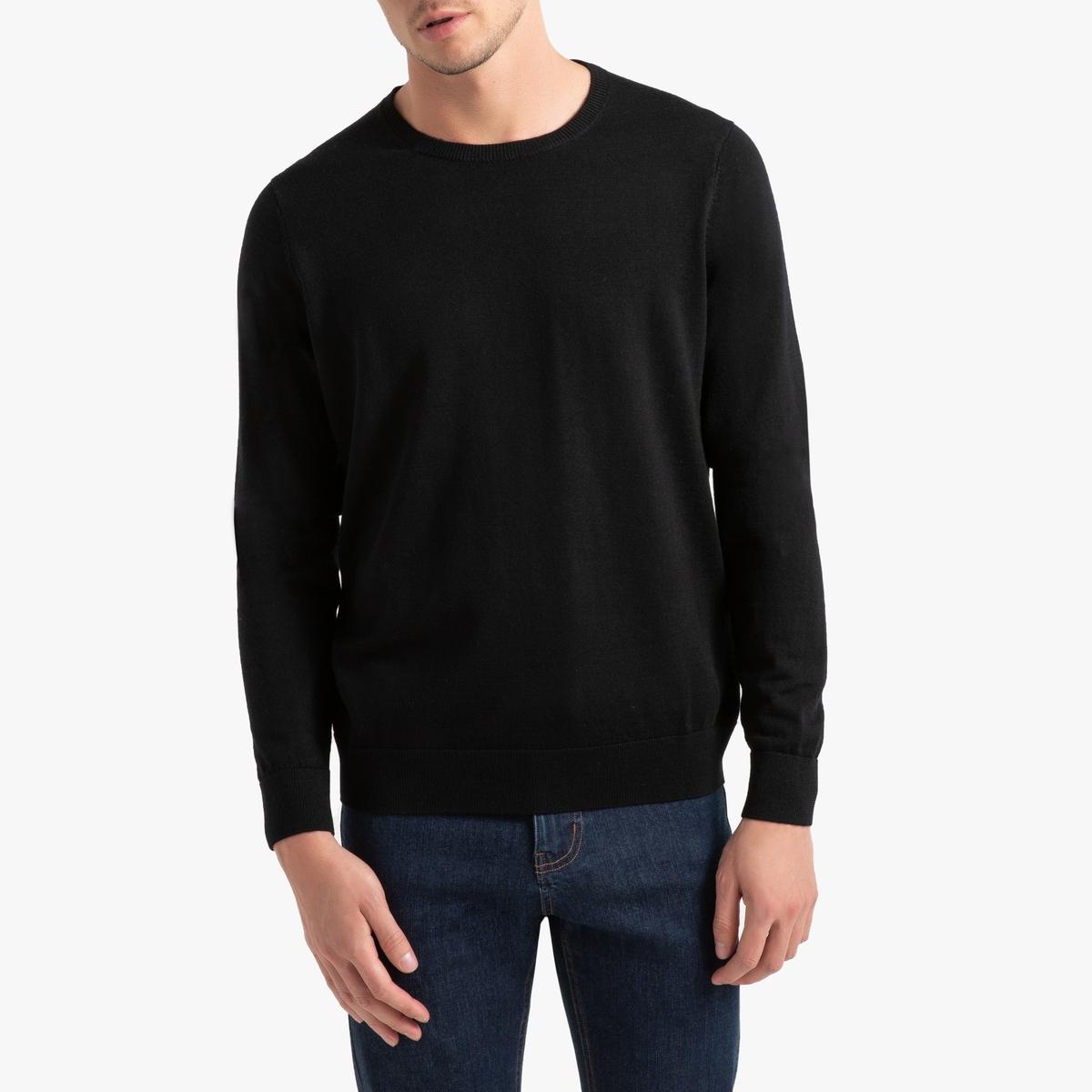 Пуловер La Redoute С круглым вырезом из шерсти мериноса Pascal 3XL черный пуловер la redoute с круглым вырезом из шерсти мериноса pascal 3xl черный