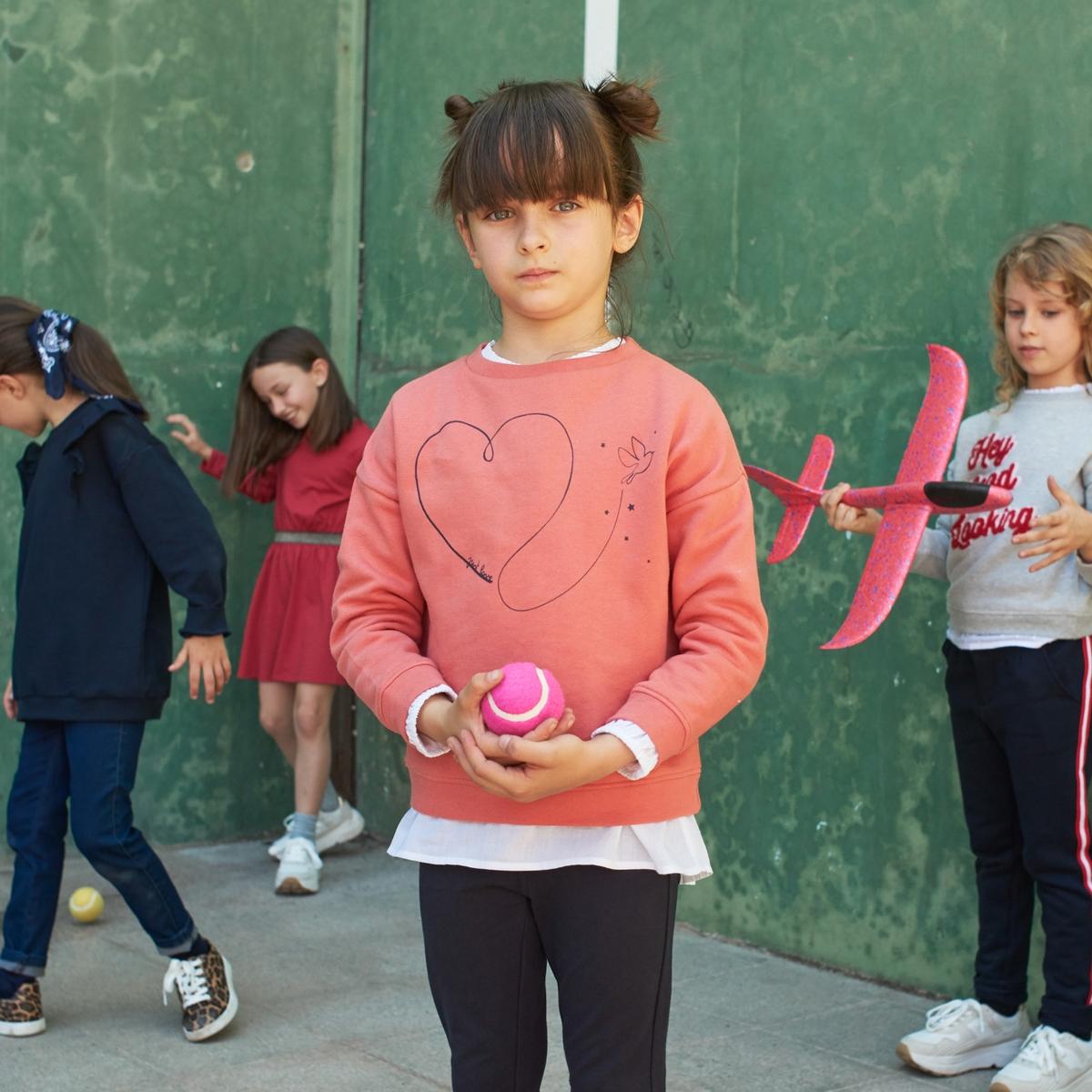 Свитшот La Redoute С круглым вырезом из мольтона с принтом 12 лет -150 см розовый пуловер la redoute с круглым вырезом и надписью из пайеток 12 лет 150 см розовый