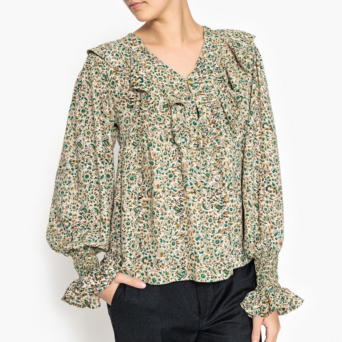 Блузка с воланами FLORI