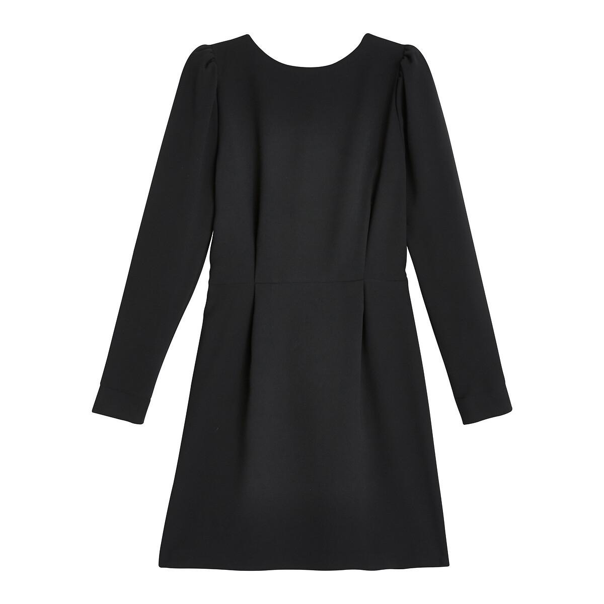 Платье La Redoute С декольте сзади и длинными рукавами 42 (FR) - 48 (RUS) черный