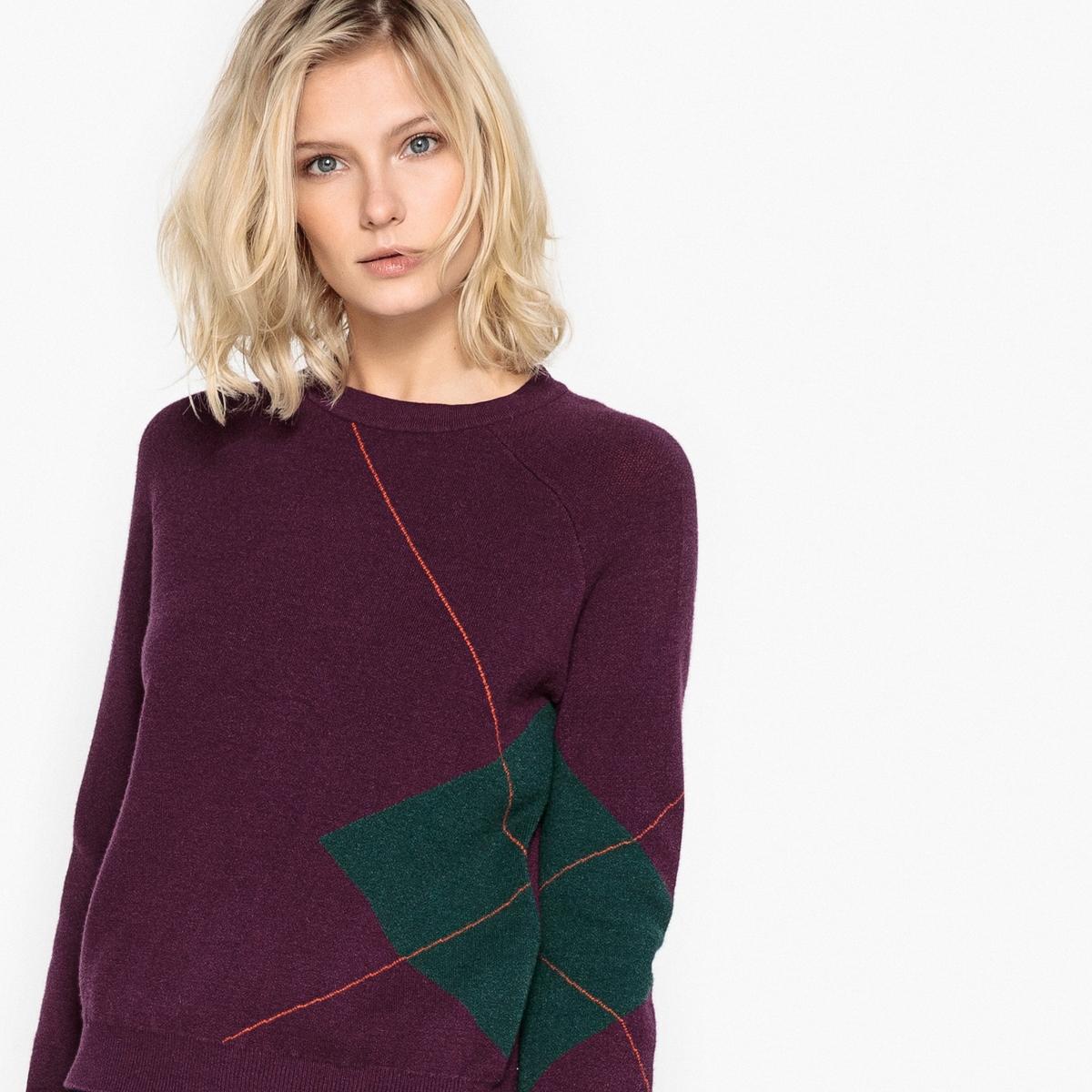 Пуловер с круглым вырезом с рисунком