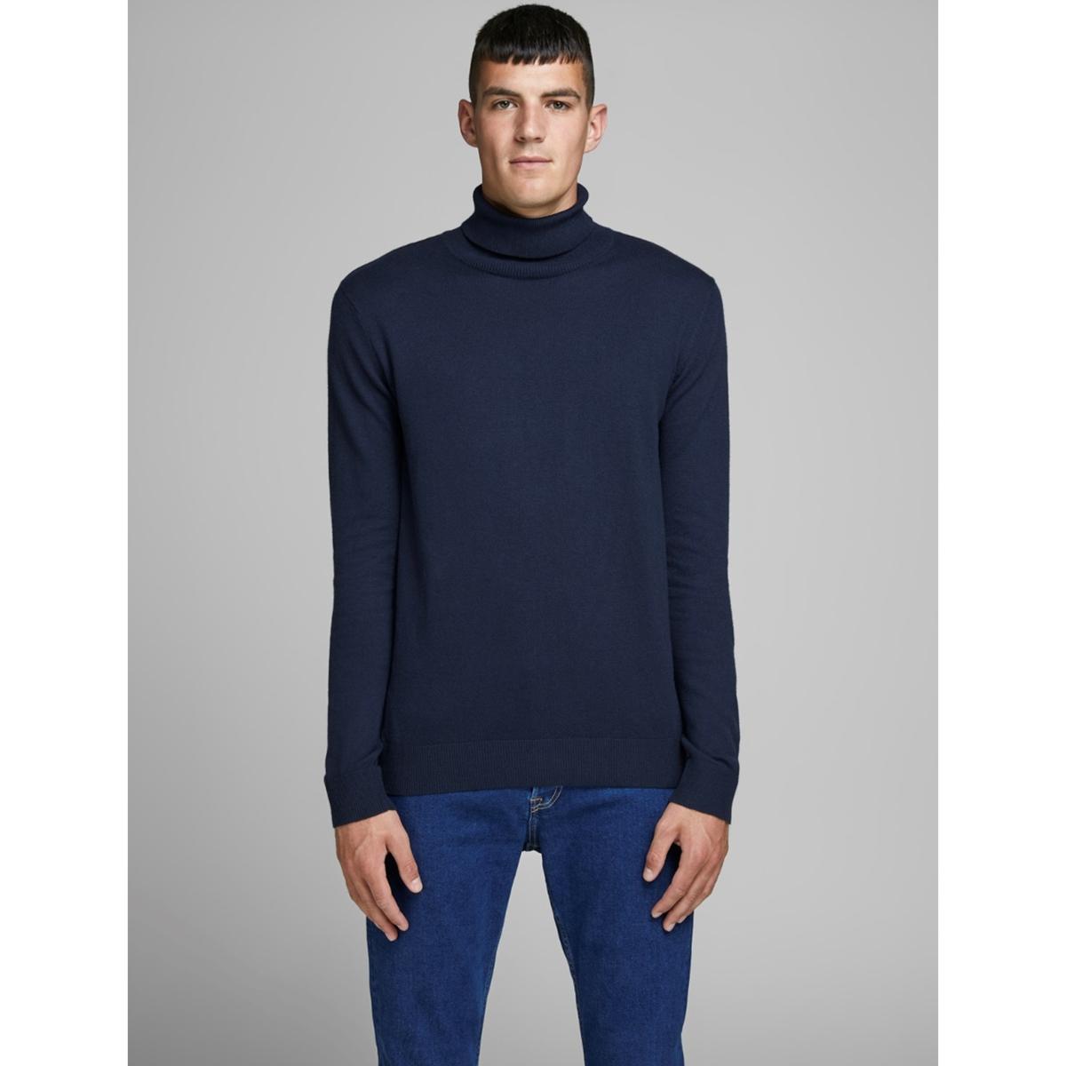 Пуловер LaRedoute С круглым вырезом из хлопка Jjeemil XXL синий