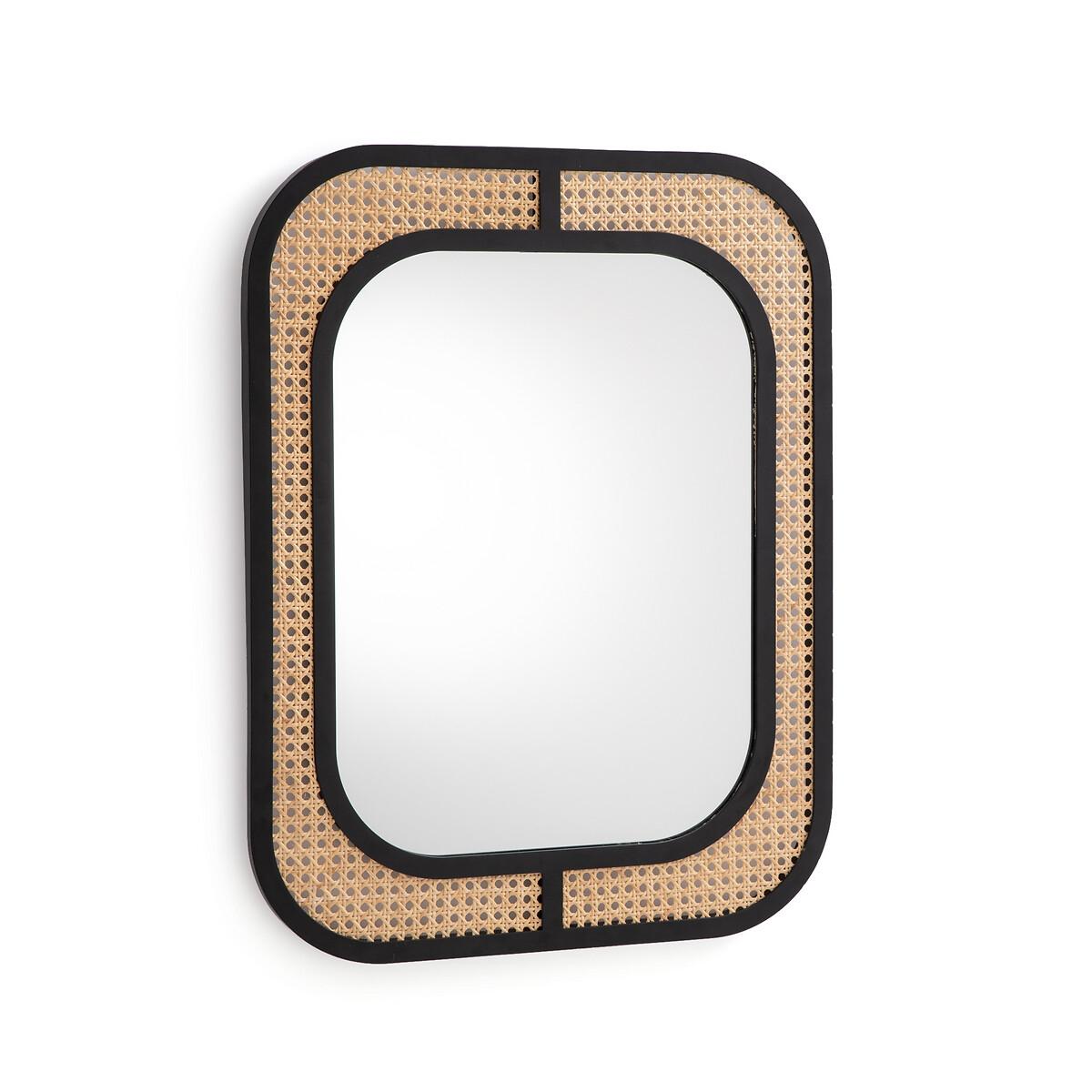 Зеркало LaRedoute Из металла и плетеного материала Waska единый размер бежевый зеркало laredoute из металла и плетеного материала waska единый размер бежевый