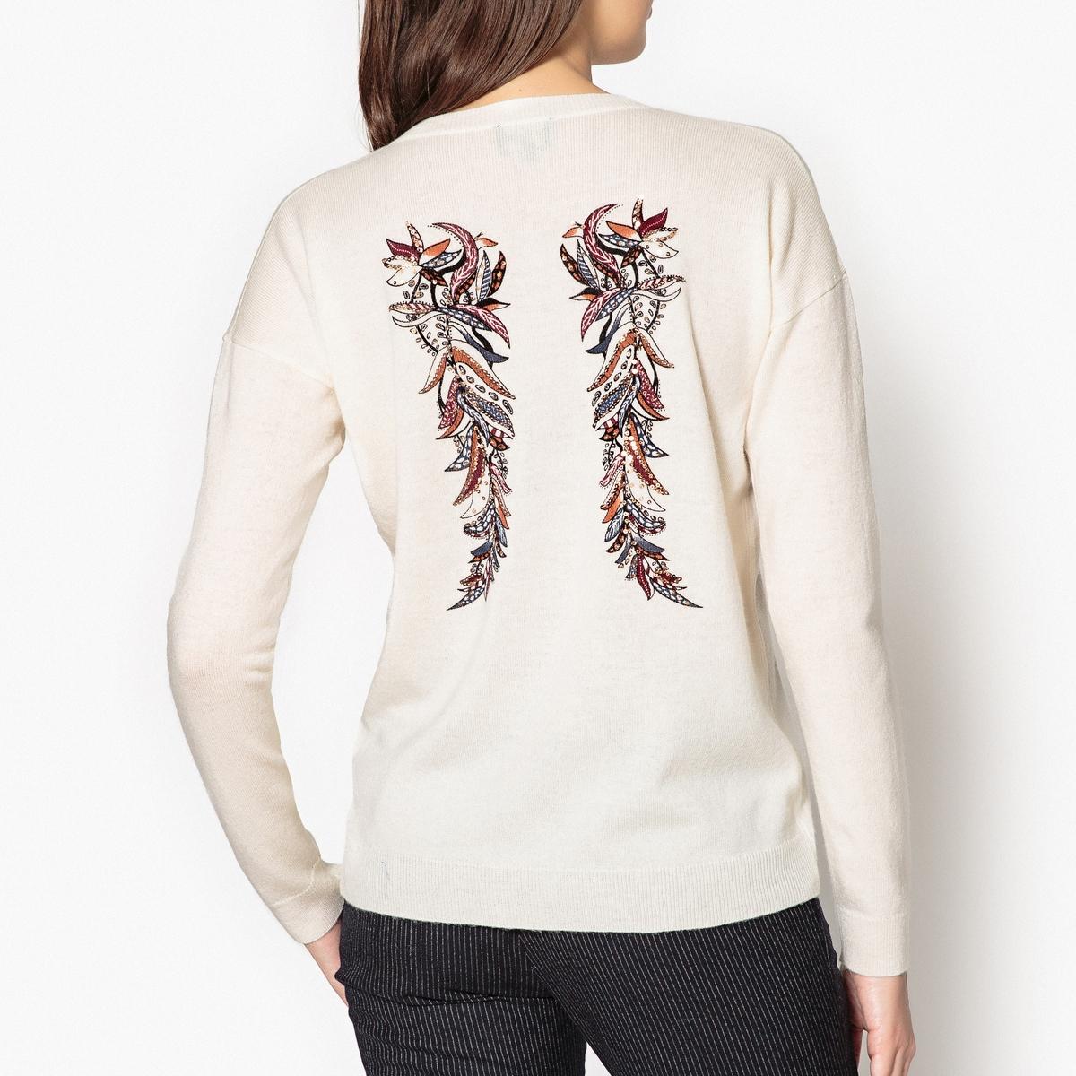 Пуловер с вышитым рисунком крыльев и блёстками BASIL