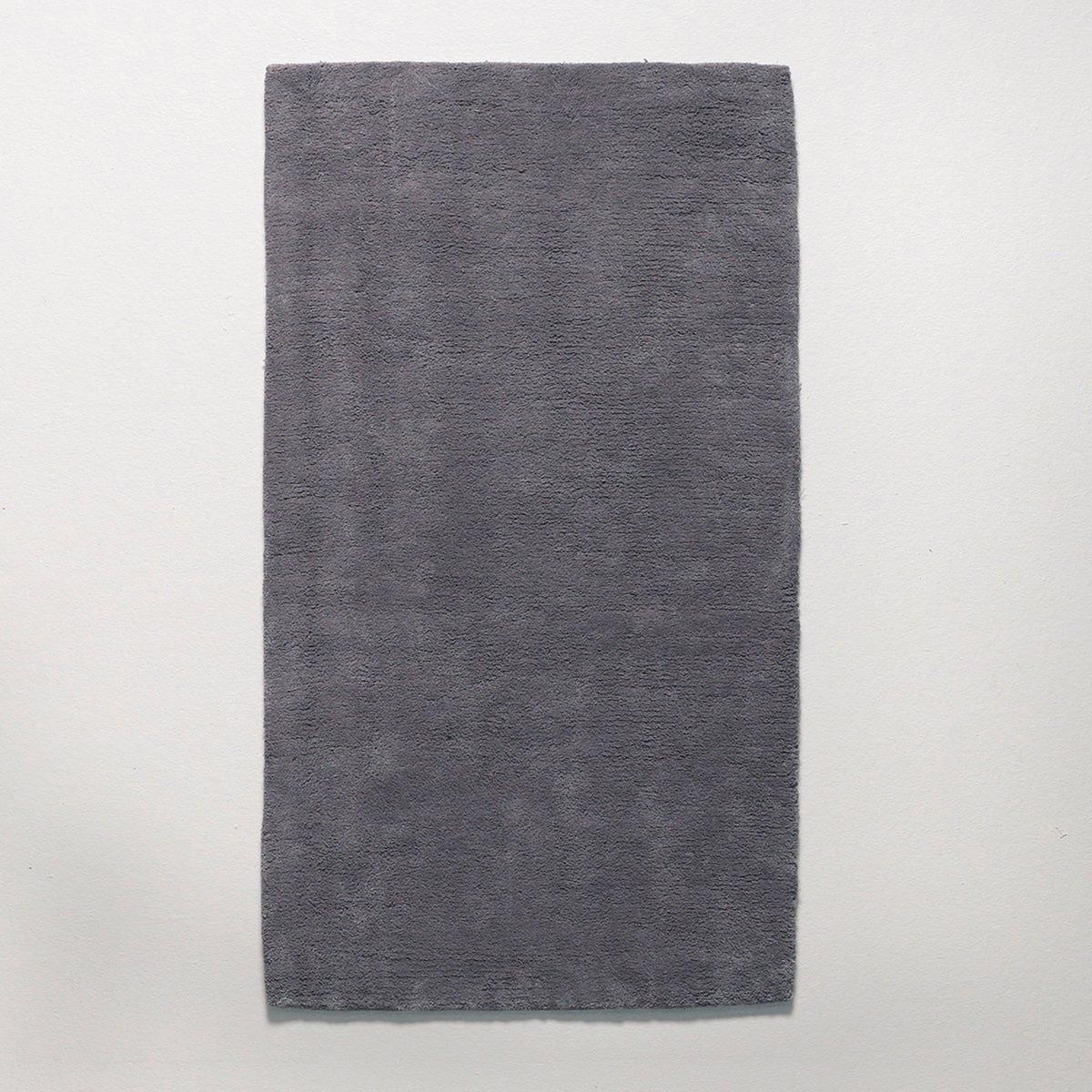 Прикроватный LaRedoute Коврик из хлопка с ворсом Renzo 60 x 110 см серый ковер la redoute с ворсом из хлопка renzo 120 x 170 см серый