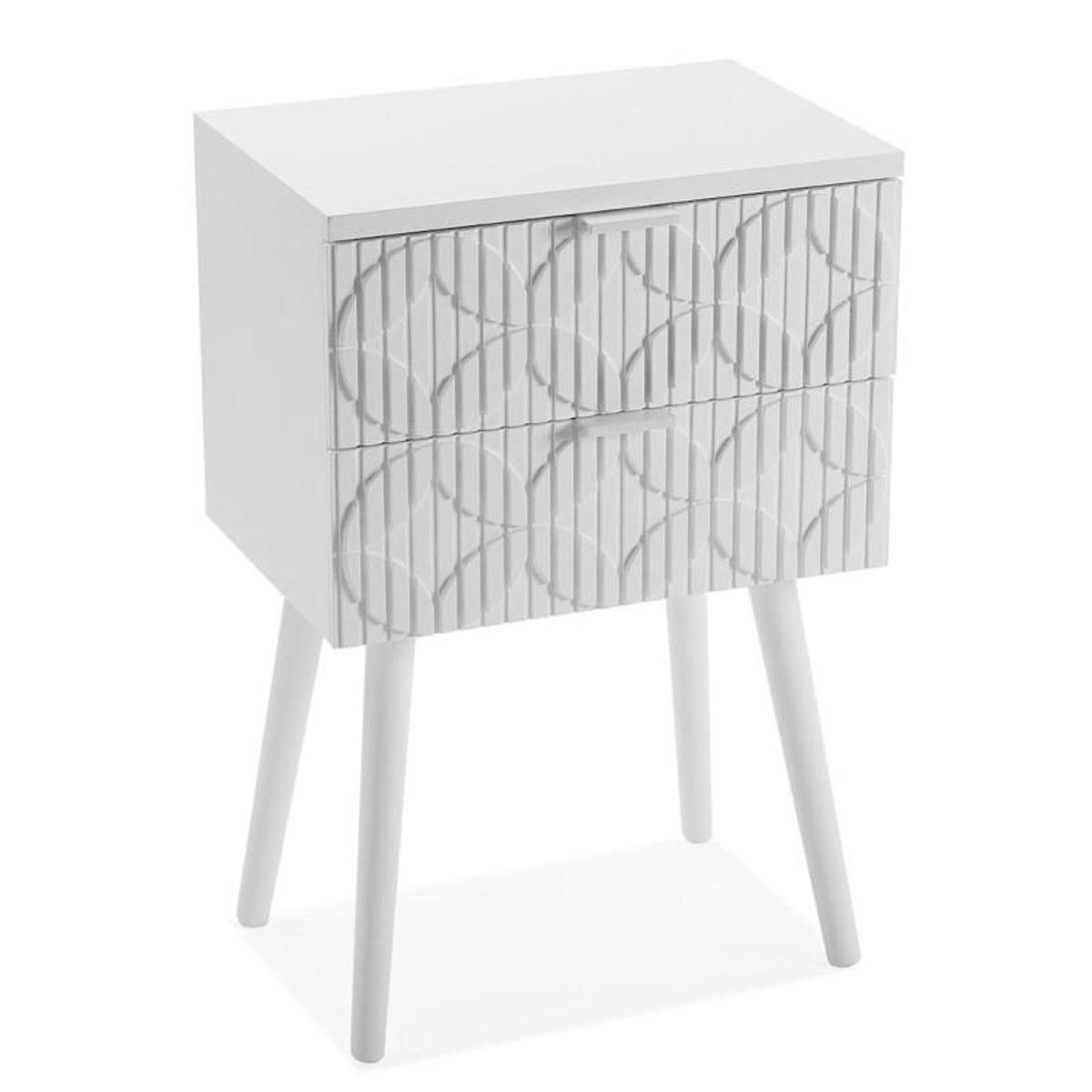 Table de chevet india en bois blanc