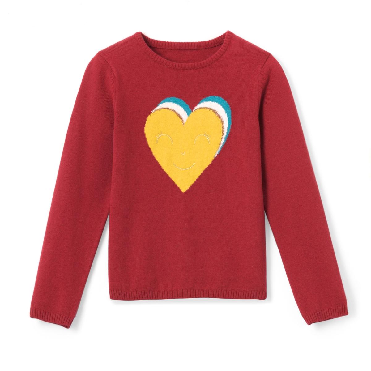 Пуловер с вышивкой с блестками 3-12 лет