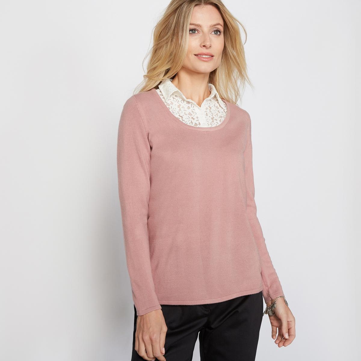 Пуловер 2 в 1, под кашемир