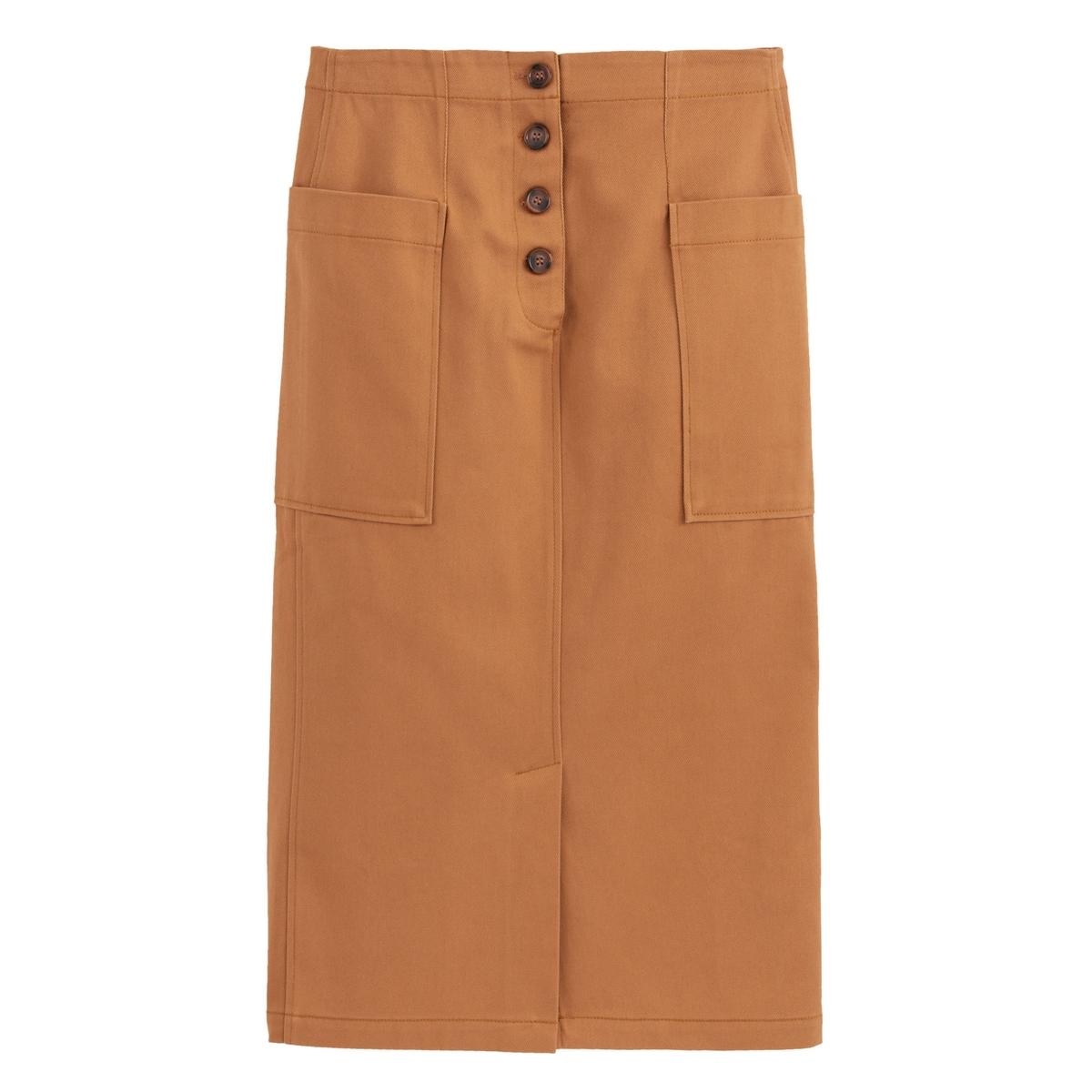 Falda recta y larga 100% algodón